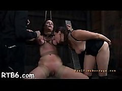 Latex sadomasochism step sister helps her brother