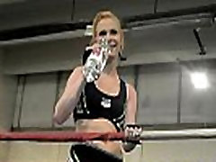 Athletic lesbos cuckold triner com in the boxing ring