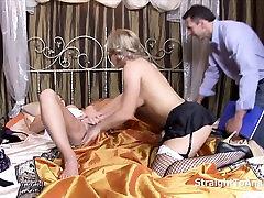 Cathy Heaven Valentina Blue in office secret porn Threesome