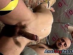 Russian captured boy bondage video gay Spitting Cum In A