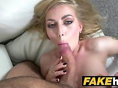 Fake Agent Hot Blonde pati patni xxx hut saund Tits Russian gets a Facial.mov