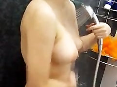 Hot Asian on the shower