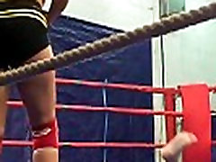 Wrestling babes shake their bigtits
