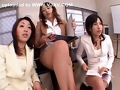 Hottest Japanese girl Airi Nakashima, Megu Shirosaki, Hina Otsuka in Incredible Secretary, Foot Job JAV video
