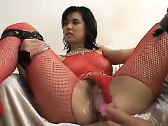Interracial anal BDSM session for three