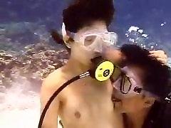 Asian scuba sex