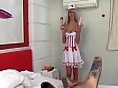Evil Tranny Nurse Barbara Perez Dominates a Wimp and Fucks His Ass