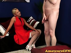 CFNM hot cheating fuckin teasing her sub partner