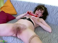 OldNannY Great student stockings sex Hairy Pussy Toy Masturbation