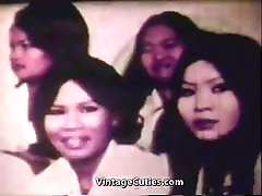 Huge Cock Fucking Asian Pussy in Bangkok 1960s Vintage
