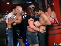Three lana police wanna have fun in the bar