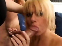 Blonde mature milf loves big cock in her all holes