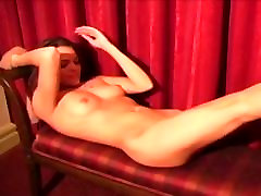 Cute girl in sheer tan pantyhose