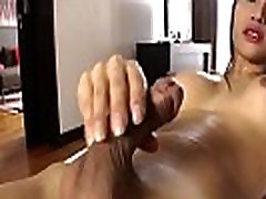 Busty Asian Tranny Sai Gets Herself Off