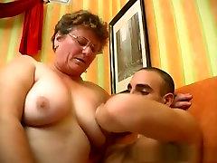 Fabulous pornstar in crazy hairy, mature porn clip