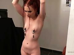 034a - Hard tickle torture moment with Cathy Crown Belgium transvestite on females Star