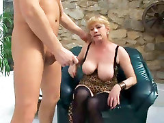 Busty Granny Fucks Young Cock