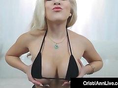 Asian indian skool boy Cristi Ann Oils Her Big Ass Tits Feet & Pussy!