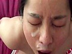Asian MILF - Huge Facial Cumshot