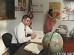 Large titted teacher group-fucked