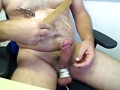 Fun with nipple and dicklet torture