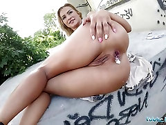Public Agent Cherry Kiss given an Anal creampie