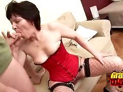 Horny Granny Eva On Top