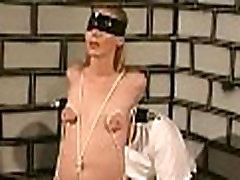 Compliant chick tit torture