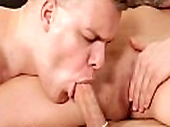 Muscular hunk assfucked while pussylicking