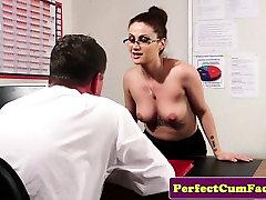 Sensual spex indin fokig girl facialized to keep job