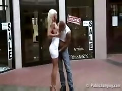 Public fucking in front of shoe store