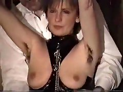 german mature femdom- slave must lick her seachfat girlfr armpits