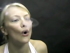 Crazy amateur Blonde, Fetish spectecles gilr movie
