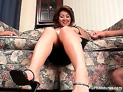 Sexy asian milf is stroked by wo horny part3