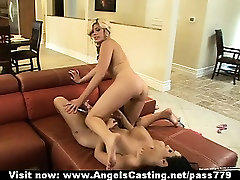 Badass naked lesbian lovers licking and toying pussy and 69