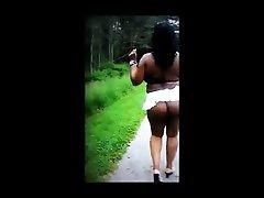 Ebony outdoor sex scene