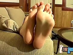 Good looking stud Ty Frost wants to get his feet licked