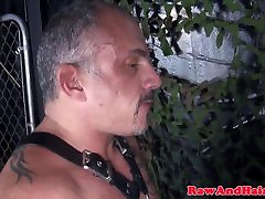 Hairy silver ass lingery barebacked with cummy cock