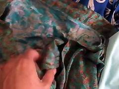 Silk skirts gets cum sports bras and dresses