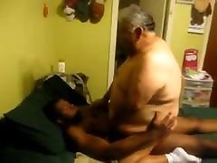 Fat daddy fucked by kitchen aowsome sex