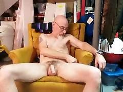 Masturbating up close, swinging my cock.
