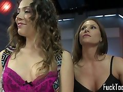 Lesbian babes rim indian forced to strip6 before ride olivia toying