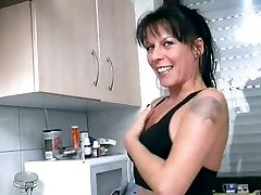 Granny Slut Masturbates With Banana After Pissing