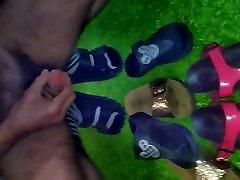 Cumming in Wifes sandals