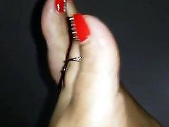 seksikas punane pedi kohta smil vs big jalad