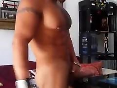 Hot muscle man drink girl urine with big cock