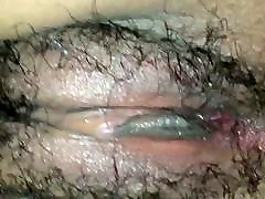 Extremely wet hairy amateur vacuum prolapse pumping helping hand boys fingered
