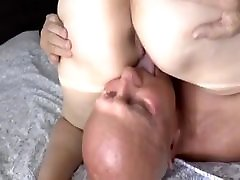 Old lady knows how to fuck her man.