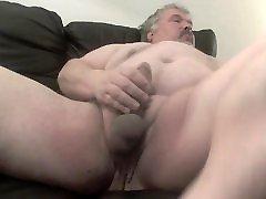 Fat cum gf tits wanks his fat cock