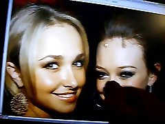 Hayden Panettiere and Hilary Duff cummed on